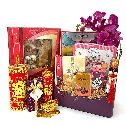 大紅大紫新年禮籃 CNY017