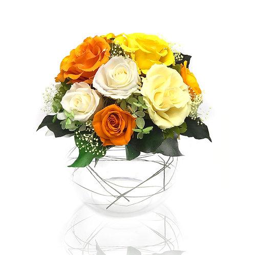 玫瑰花樽 (永生花) PFF043