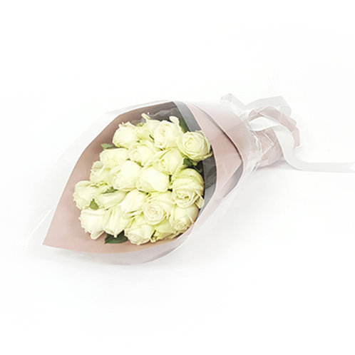 Purely White Roses Bouquet 玫瑰花束 FB006