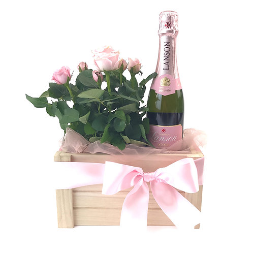 Rose 玫瑰&香檳母親節禮籃 PP 004