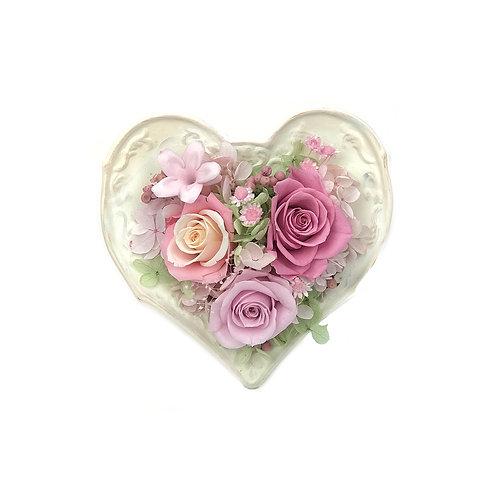 玫瑰心形擺設 (永生花) PFF049