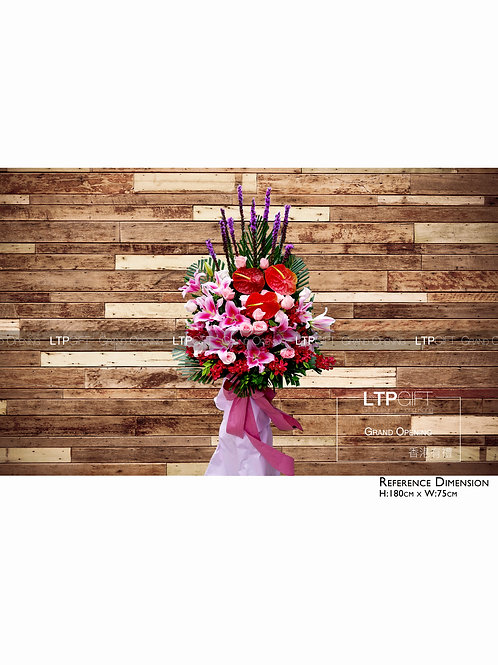 Creative flower basket with greeting card