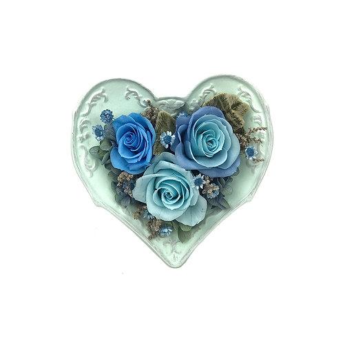 玫瑰心形擺設 (永生花) PFF048