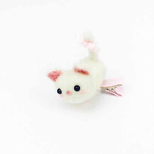 Pink Kitten Hair Clip 粉紅貓貓髮夾