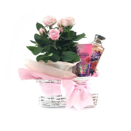 粉紅玫瑰母親節禮籃  PP 002