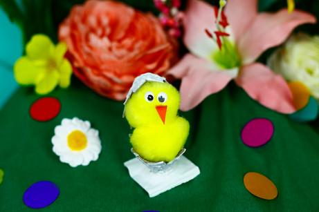 Pom-pom egg crack chick