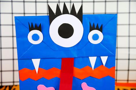 Paper bag monster