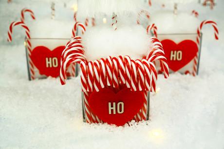 Candy Santa centrepiece