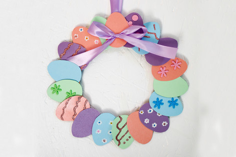 Card Easter Egg Wreath