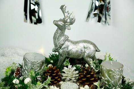 Stag wreath centrepiece