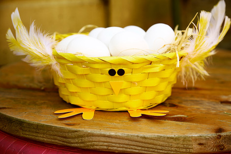 Easter character baskets