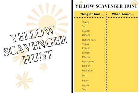Yellow Scavenger Hunt