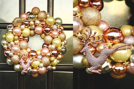 DIY bauble wreath