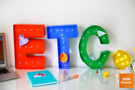 Letter cork pin board