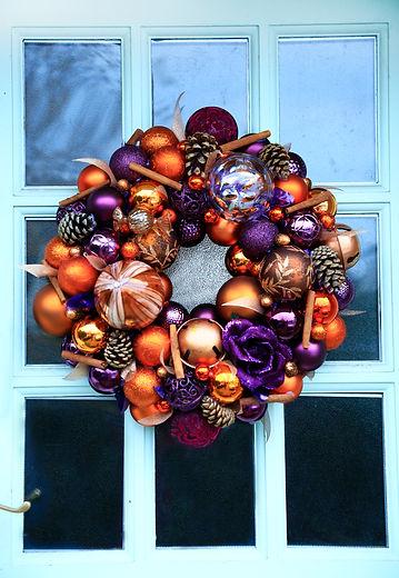 Burnt orange and purple wreath.jpg