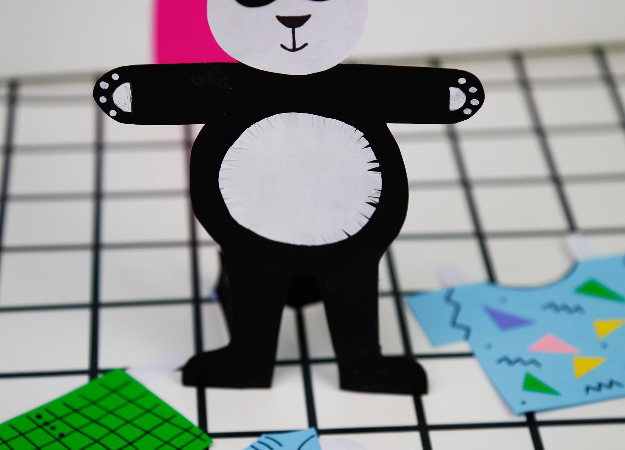 Paper Panda Doll