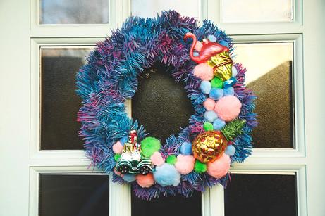 Kitsch Christmas Wreath