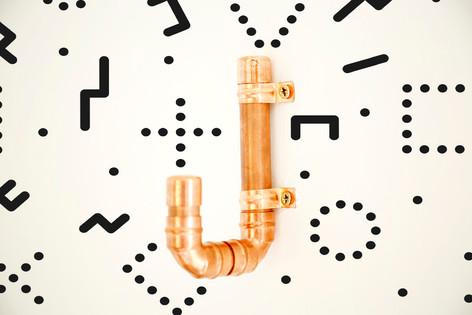 DIY copper pipe hook