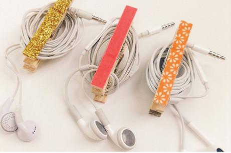 DIY earphone tidy
