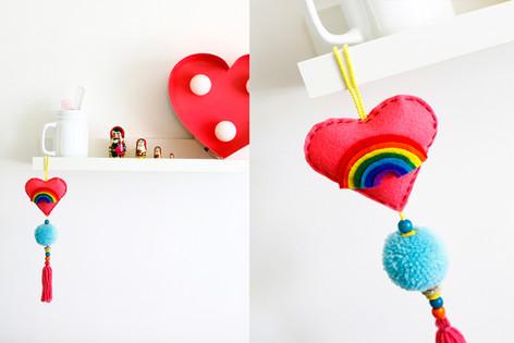 DIY Hanging Heart