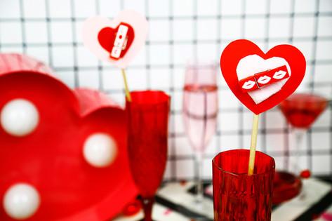 Valentine cocktail stirrers