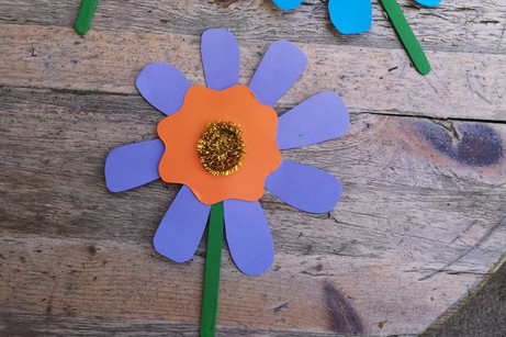 Lolly Stick Flowers