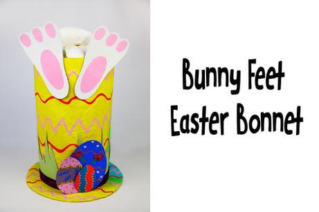 Bunny Feet Easter bonnet