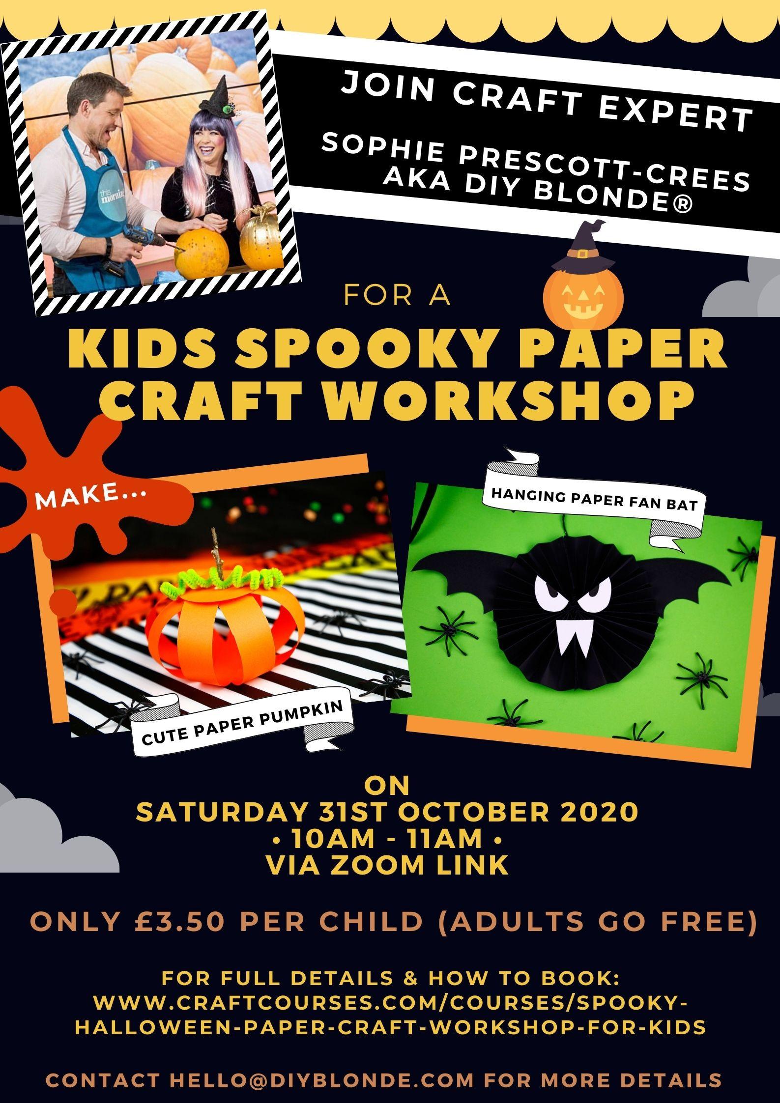 Halloween Paper Craft workshop