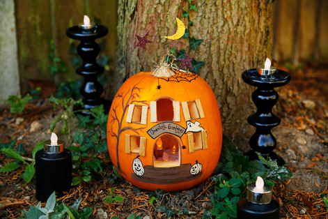 Spooky House Pumpkin