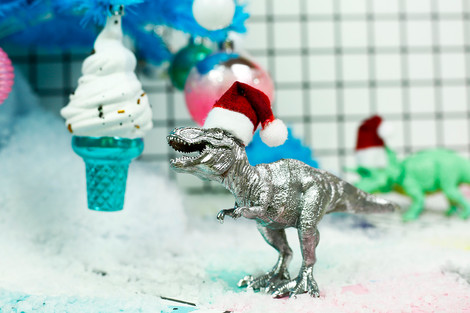 Dino 'claus' Ornament