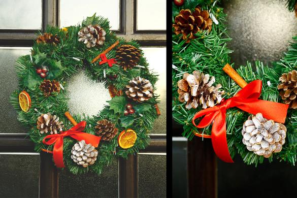 Traditional xmas wreath