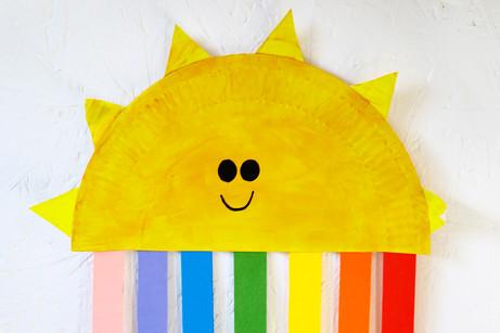 Paper Plate Sun Rainbows