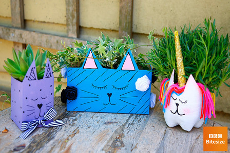 DIY animal vases