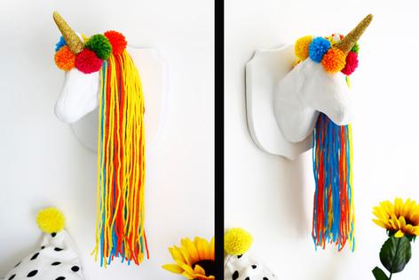 Pom-pom Unicorn Head