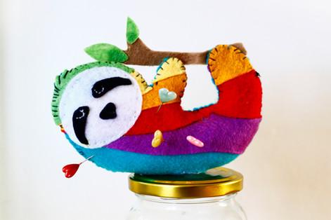 Rainbow Sloth Pin Cushion