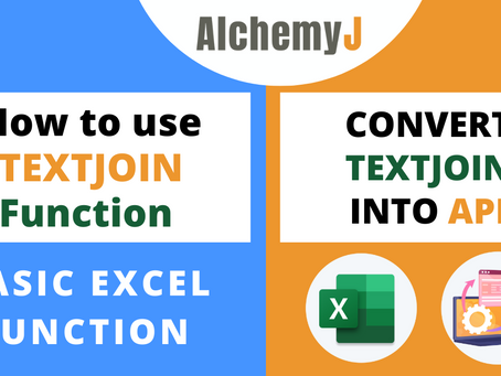 Basic Excel Function - How to use TEXTJOIN Function