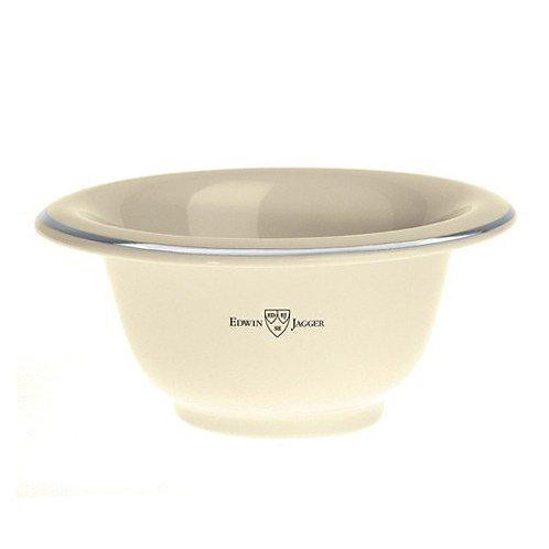 Edwin Jagger Ivory Porcelain Shaving Bowl With Chrome Rim