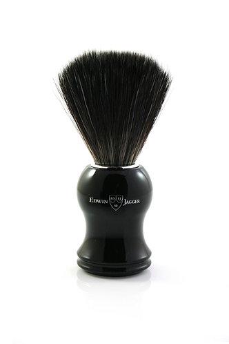 Edwin Jagger 21P36 Imitation Ebony Shaving Brush (Black Synthetic)