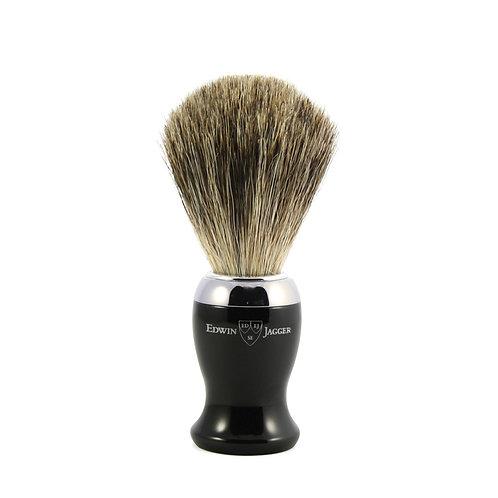 Edwin Jagger Black Shaving Brush (Pure Badger)