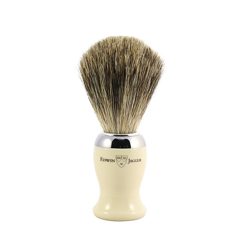 Edwin Jagger Imitation Ivory Shaving Brush (Pure Badger)