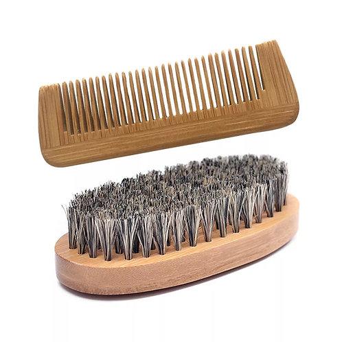Boar Bristle Beard & Comb Set