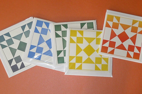 """Assortment of Quilt Themed 6"""" Square Card"""