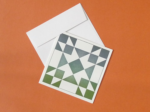 """Quilt Themed 6"""" Square Card"""