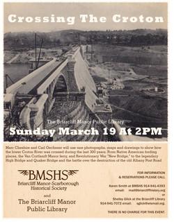 Crossing the Croton BMSHS new bridge gray bkg copy