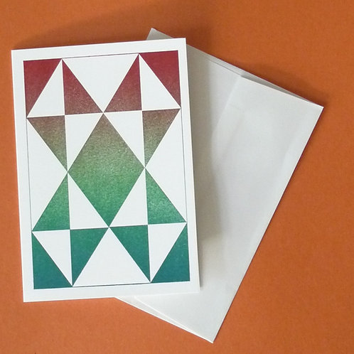 Letterpress Printed Quilt Themed Card
