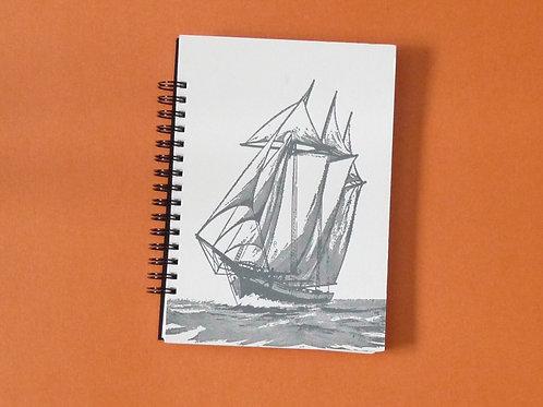 Tall Ships Blank Sketchbook