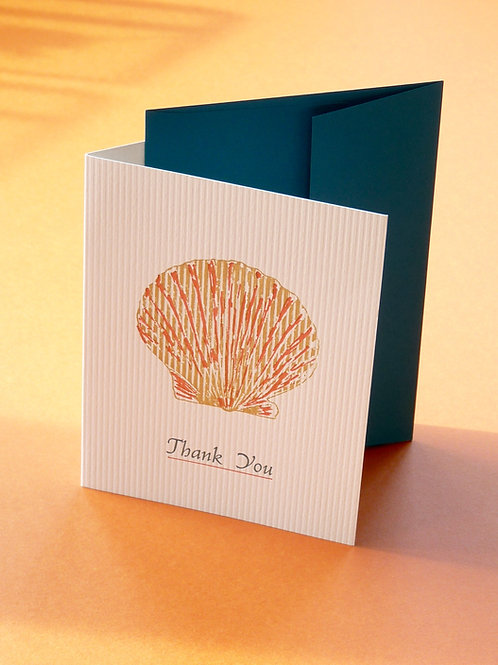 Shell Thank You Card