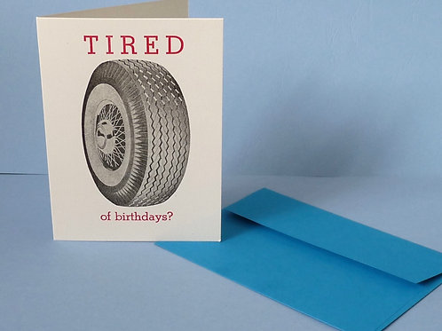 Letterpress Printed Birthday  Card