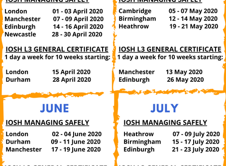 Upcoming Course Dates