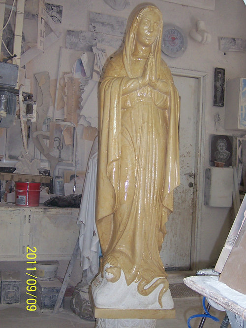 Virgin Mary Statue 07 (with snake)